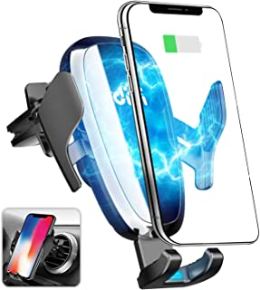 Car Wireless Charger, Auto-Clamping 10W/7.5W Qi Fast Charging Phone Holder for Car, Air Vent Cell Phone Mount Compatible with iPhone Xs XR X 8 Plus 7, Samsung Galaxy S10e S10 S9 S8+ Note 10 S7 Edge