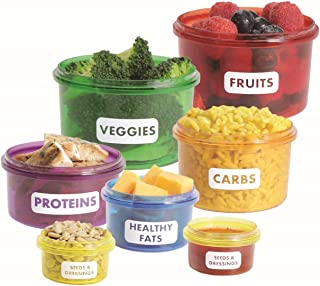 Healthy Living Perfect Portions Food Storage Containers KIT 7 Pieces- Easy Way To Lose Weight Using Portion Control