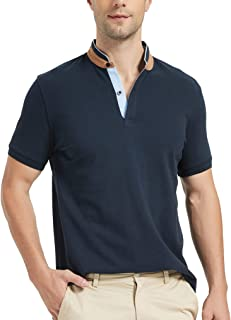 Navifalcon Polo Shirts for Men Short Sleeve Classic Fit 100% Cotton