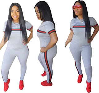 Women's 2 Piece Tracksuit, Outfits T-Shirt Pullover Hoodie Workout Sets Loungewear Sweatsuit Workout Track Suits,Gray,M