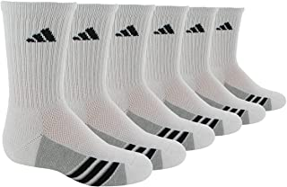 adidas Kids' - Boys/Girls Cusioned Crew Socks (6-Pair)
