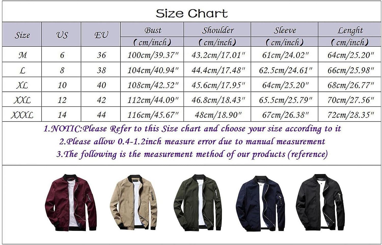 Mens Jackets Slim Fit Lightweight Softshell Flight Bomber Jacket Coat Casual Full Zip Windbreakers Fashion Outerwear