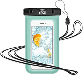 YOSH Waterproof Phone Pouch Waterproof Case Cell Phone Dry Bag Underwater Pouch with Neck Strap Compatible with iPhone11/Pro/Max/Xs/X/8/7 P Galaxy S9/S8 Edge/Note 5 Google Pixel 2 up to 6.5