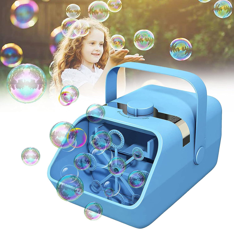 WYB Automatic Bubble Machine Blower, Portable Bubble Toys for Ki