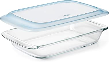 OXO 11176400 Good Grips Freezer-to-Oven Safe 3 Qt Glass Baking Dish with Lid, 9 x 13