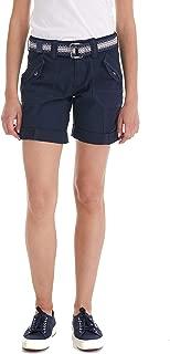 Suko Women's Adjustable Length Cargo Bermuda Shorts with Belt Size 2-22 Plus