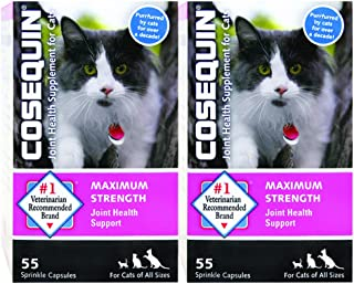 NUTRAMAX 55 Count Cosequin Feline Health Joint Care Supply, (2 Pack)