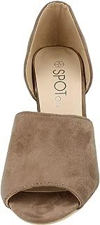 Spot On Womens/Ladies Microfibre Peep Toe Mule High Heels