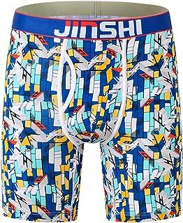 Men's Underwear Long Boxer Briefs Underpants The Boxer for Men Breathable Bamboo Fiber Pack