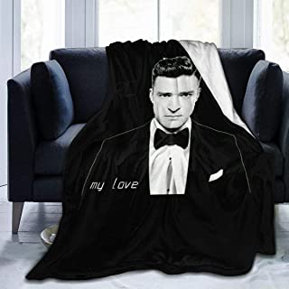 Robert M Smith Justin Timberlake Super Soft Luxury Comfortable Warm Fluffy Plush Blanket for Bed Sofa Chair Autumn and Winter Spring Living Room (50