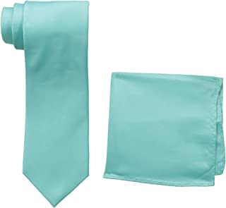 Men's Satin solid Tie Set