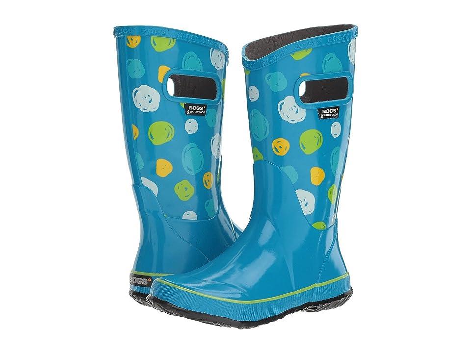 Bogs Kids Sketched Dots Rain Boot (Toddler/Little Kid/Big Kid) (Sky Blue Multi) Girls Shoes