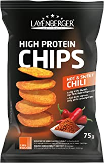 Layenberger High Protein Chips Hot & Sweet Chili, 1 x 75 g