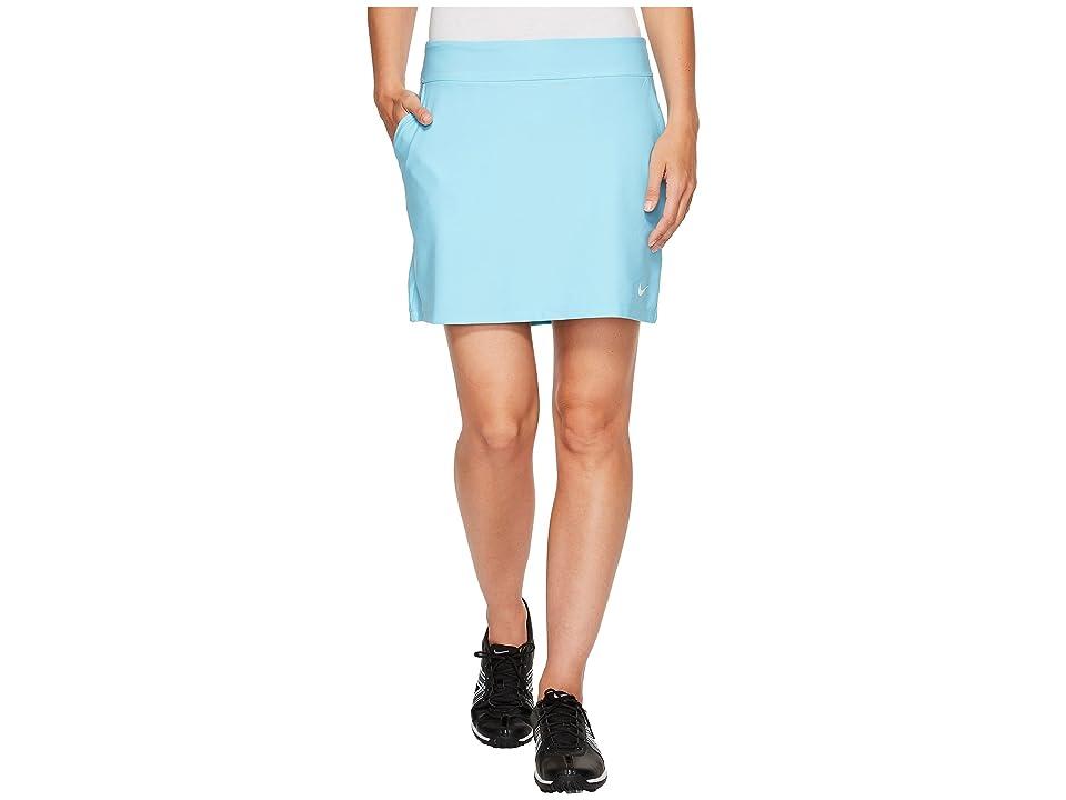 Nike Golf Tournament Knit Skort (Vivid Sky/White) Women