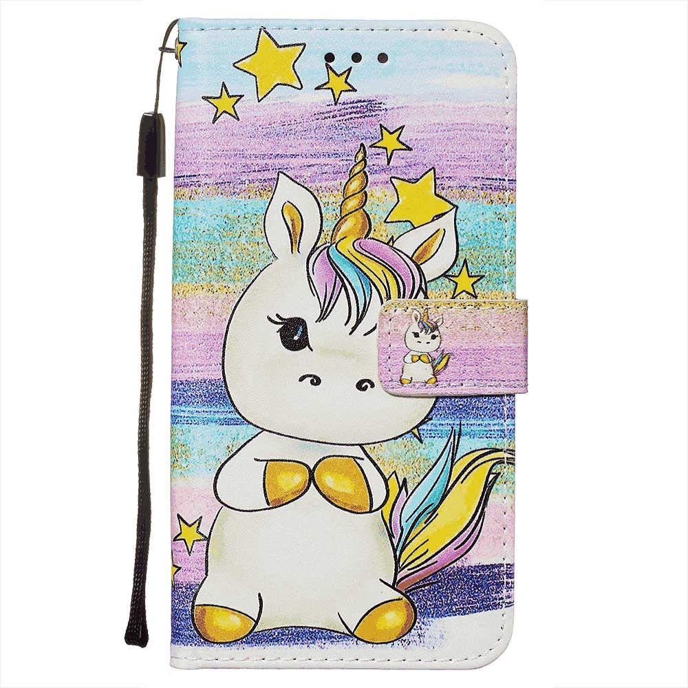Kickstand Card Holders Extra-Shockproof Fox Wallet Cover for Samsung Galaxy A50 Leather Flip Case Fit for Samsung Galaxy A50