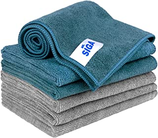 "MR.SIGA Microfiber Cleaning Cloth, Pack of 6, Size: 13.8"" x 15.7"""