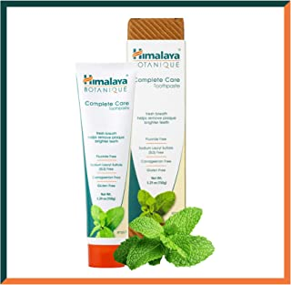 Himalaya Complete Care Toothpaste - Simply Mint 5.29 oz/150 g (1 Pack) Natural, NO Fluoride, NO SLS