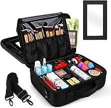 Archile make-up tas, draagbare grote ruimte make-up case dubbellaagse professionele cosmetische opbergtas met spiegel en t...