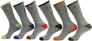 Polo Ralph Lauren 6-Pack Athletic Sports Long Socks