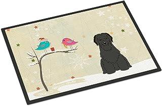 Caroline's Treasures between Friends Briard Black Indoor or Outdoor Mat 18x27 BB2553MAT 18 x 27 Multicolor