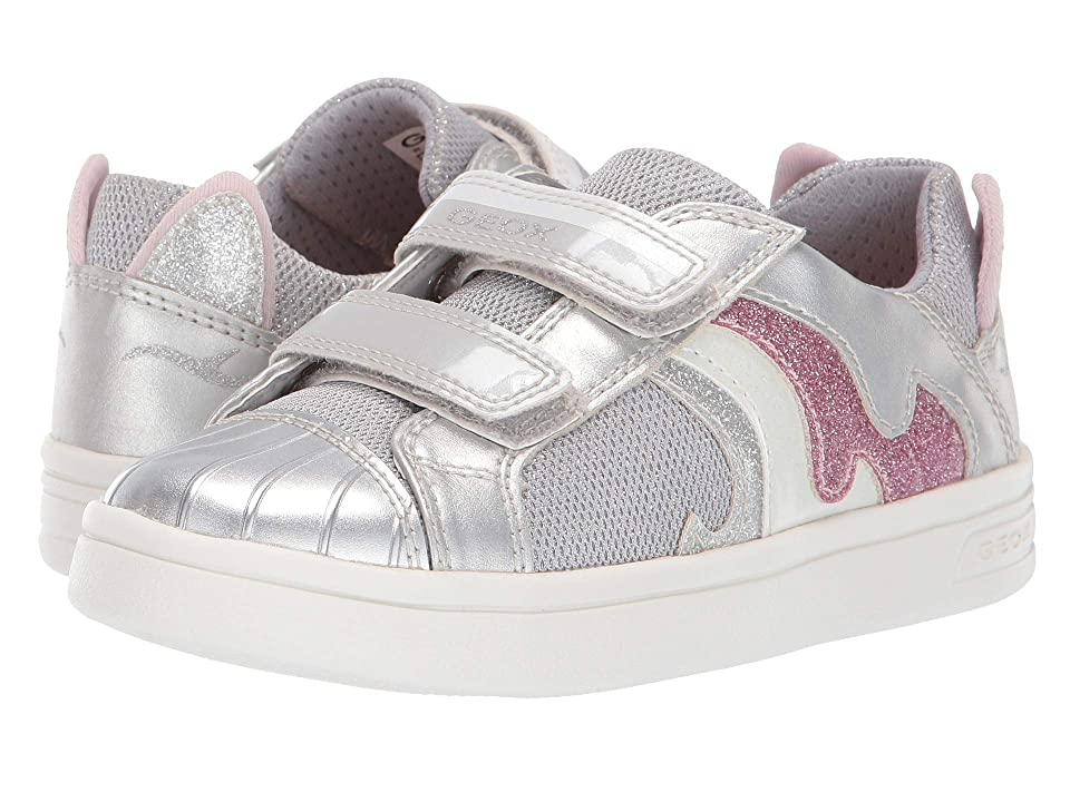 Geox Kids Djrock Girl 20 (Little Kid) (Silver) Girl