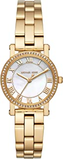 Michael Kors Petite Norie Women's White Mother of Pearl Dial Stainless Steel Band Watch - MK3682