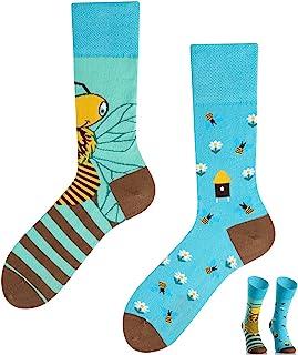 TODO COLOURS Abejas en la pradera – Calcetines Casual Mix & Match – Multicolor calcetines