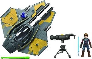 Hasbro Star Wars Mission Fleet Stellar Class Anakin Skywalker Jedi Stjärnjägare 6 cm stor figur och fordon, leksak för bar...