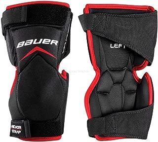 Bauer Vapor X900 Ice Hockey Goalie Knee Protector Guards, Black/Red
