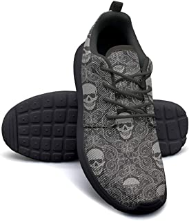 Skull cat moon Casual Shoes for Women customize Non-Slip Running Shoes For Girls
