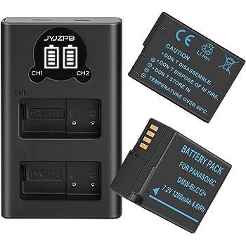 2x USB cable Panasonic Lumix dmc-fz1000 Lumix dmc-g3 cargador negro