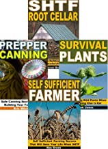 Self Reliance Skills 4-Box Set: SHTF Root Cellar, Survival Plants, Prepper Canning, Self Sufficient Farmer