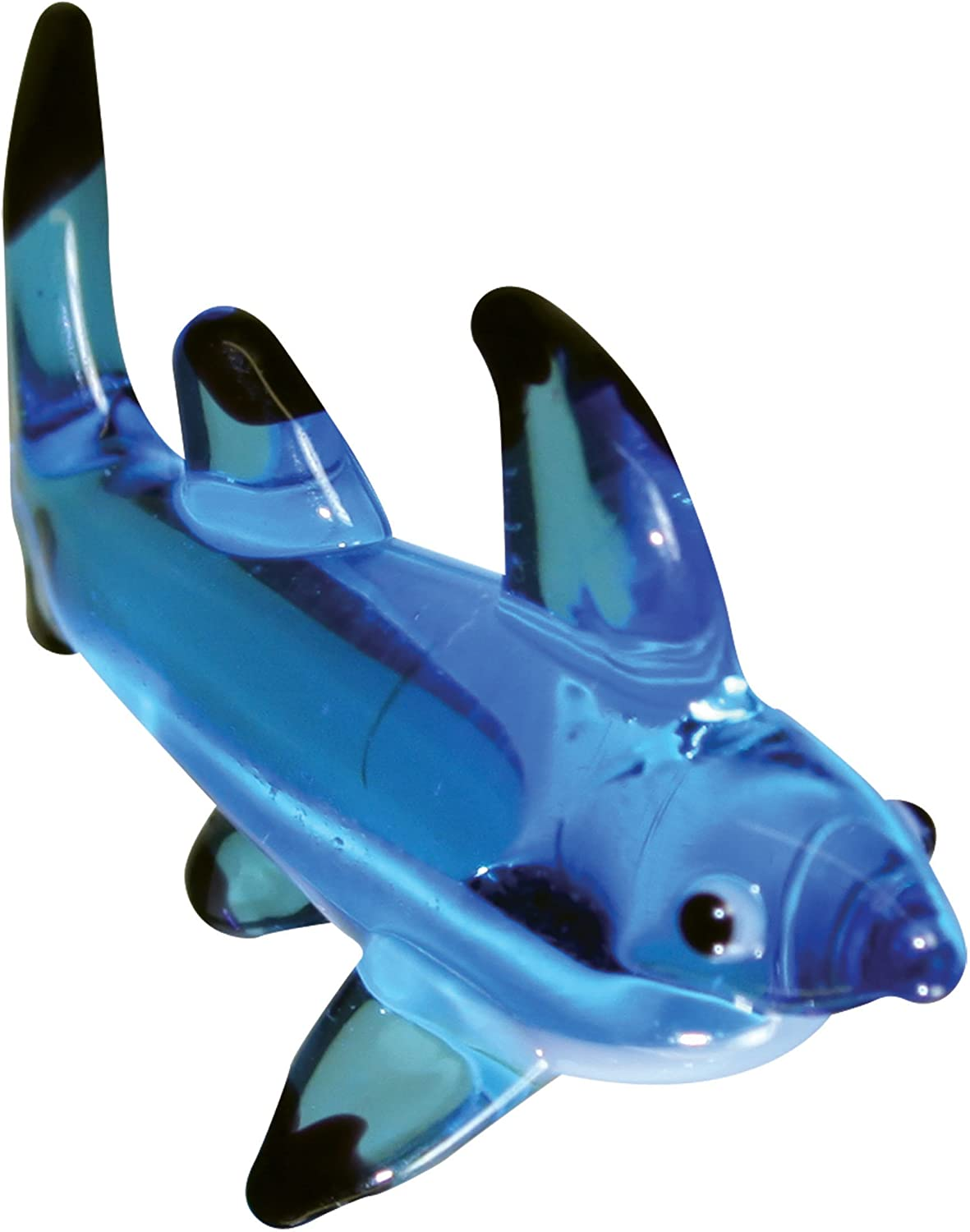 Looking Glass Stealth the Blacktip Shark Miniature Glass Collectible Pack of 12