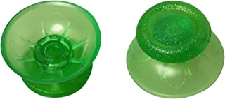 eJiasu 3D Mushroom Head Plastic Thumbstick Analog Stick Joystick Repair Replacement Parts for Sony PlayStation 4 PS4 Controller (Transparent Green-2 pairs)