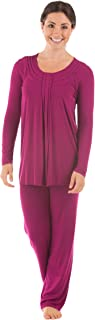 Women's Long Sleeve PJs in Bamboo Viscose (Replenish) Cozy Pajama Set by Texere