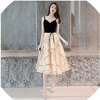 Cheongsam Champagne Oriental Party Wedding Female Noble Cheongsam V Neck Slim Evening Dress