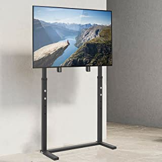 """Wisfor Floor TV Stand with Bracket, Free Standing TV Trolley Height Adjustable TV Bracket Stand for 32""""-100"""" Flat Panel LE..."""