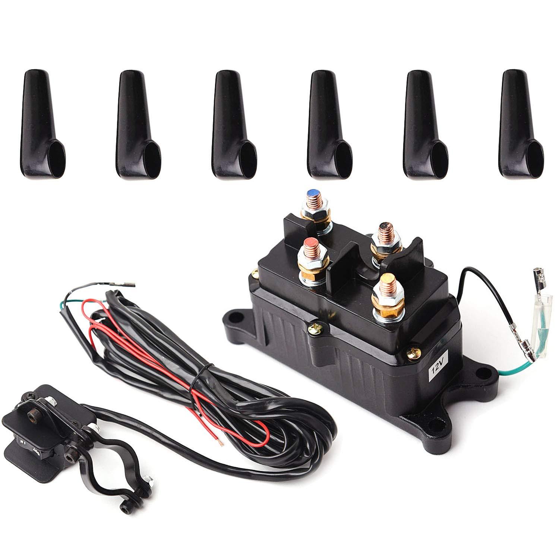 warn atv winch parts amazon com ATV Winch On ATV 12v solenoid relay contactor \u0026 winch rocker thumb switch combo for atv utv