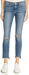 Le Skinny de Jeanne Step Hem Jeans, Beckett Lane Wash
