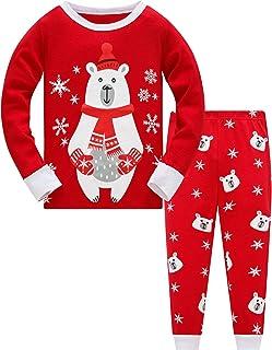 TEDD Conjunto de pijamas navideños, algodón, divertido traje de dormir de Papá Noel de 2 piezas