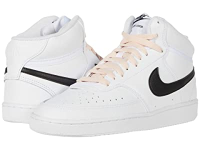Nike Court Vision Mid (White/Black/Washed Coral) Women