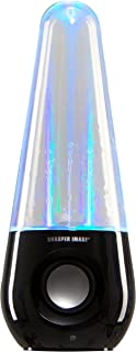 Sharper Image Bluetooth Wireless Dancing Water Speaker with Multicolored LED Light (Black)