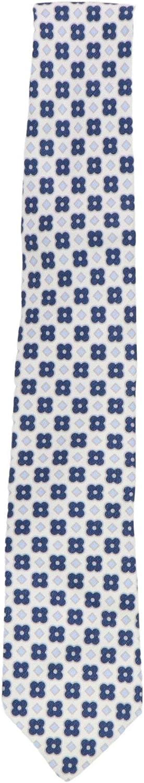 Luigi Borrelli Men's Linen Silk Floral and Geometric Hooded Tie Necktie