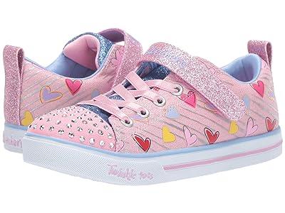 SKECHERS KIDS Twinkle Toes Sparkle Lite 20224L (Little Kid/Big Kid) (Light Pink/Multi) Girl