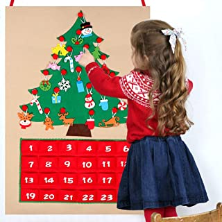 hanging advent calendar with 24 ornaments
