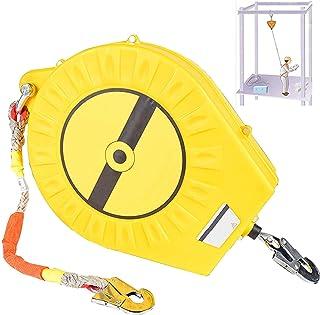 自動引き込み式ライフライン ケーブル引き込み式ツール ストラップ、フック付き高地ガーディアン落下保護、最大荷重 300kg、ダブル ロック + ダブル シェル、偶発的な落下を防止
