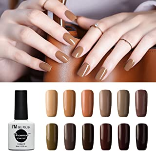 Vrenmol Gel Nail Polish Set 12pcs Brown Soak off UV LED Nail Polish Nail Lacquers Nail Art Manicure Kit