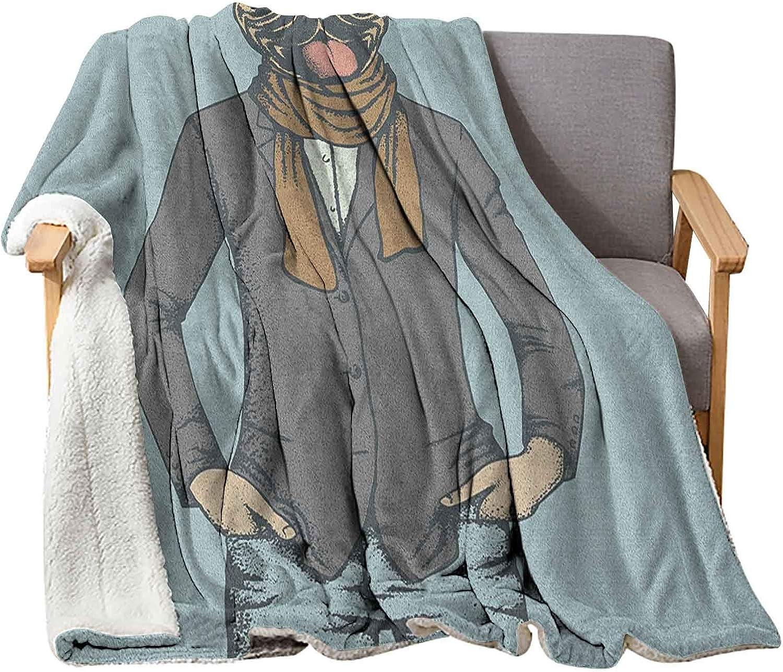 Interestlee Pug Sherpa Blanket 40