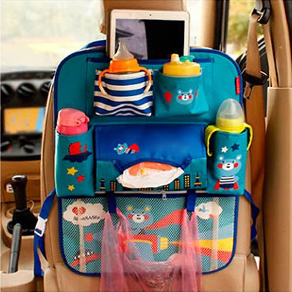 Bolsa Plegable de Almacenamiento para beb/és y ni/ños peque/ños. Organizador para Respaldo de Asiento de Coche Apple HomDSim