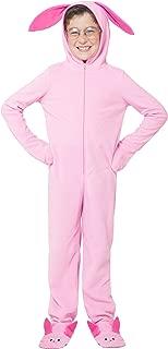 Kids 'Ralphie Deranged Pink Bunny' Onesie Hooded Pajama - coolthings.us